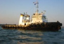 "The tug ""Christian"" which is missing, presumed attacked by pirates"